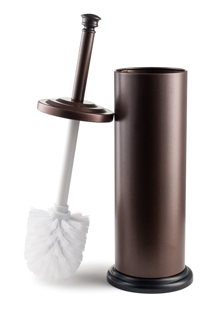stainless steel toilet brush and holder bronze bronze. Black Bedroom Furniture Sets. Home Design Ideas